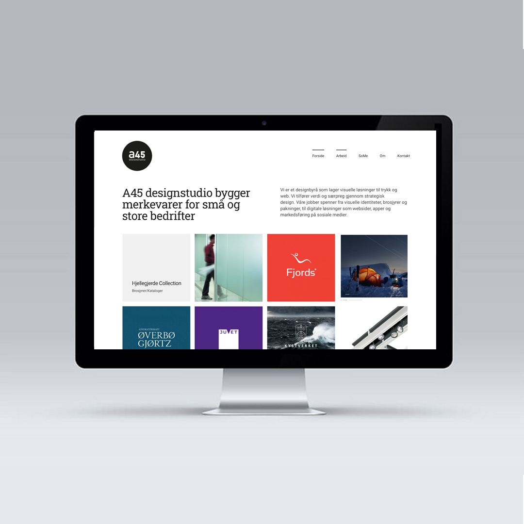 A45 med ny websider!